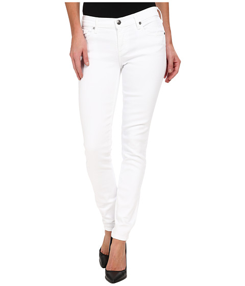 """True Religion Casey w/ Flaps Low Rise Skinny 30"""" in BTW First Snow Optic White"""