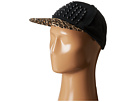 Betsey Johnson Spike Leopard Baseball Hat (Black)