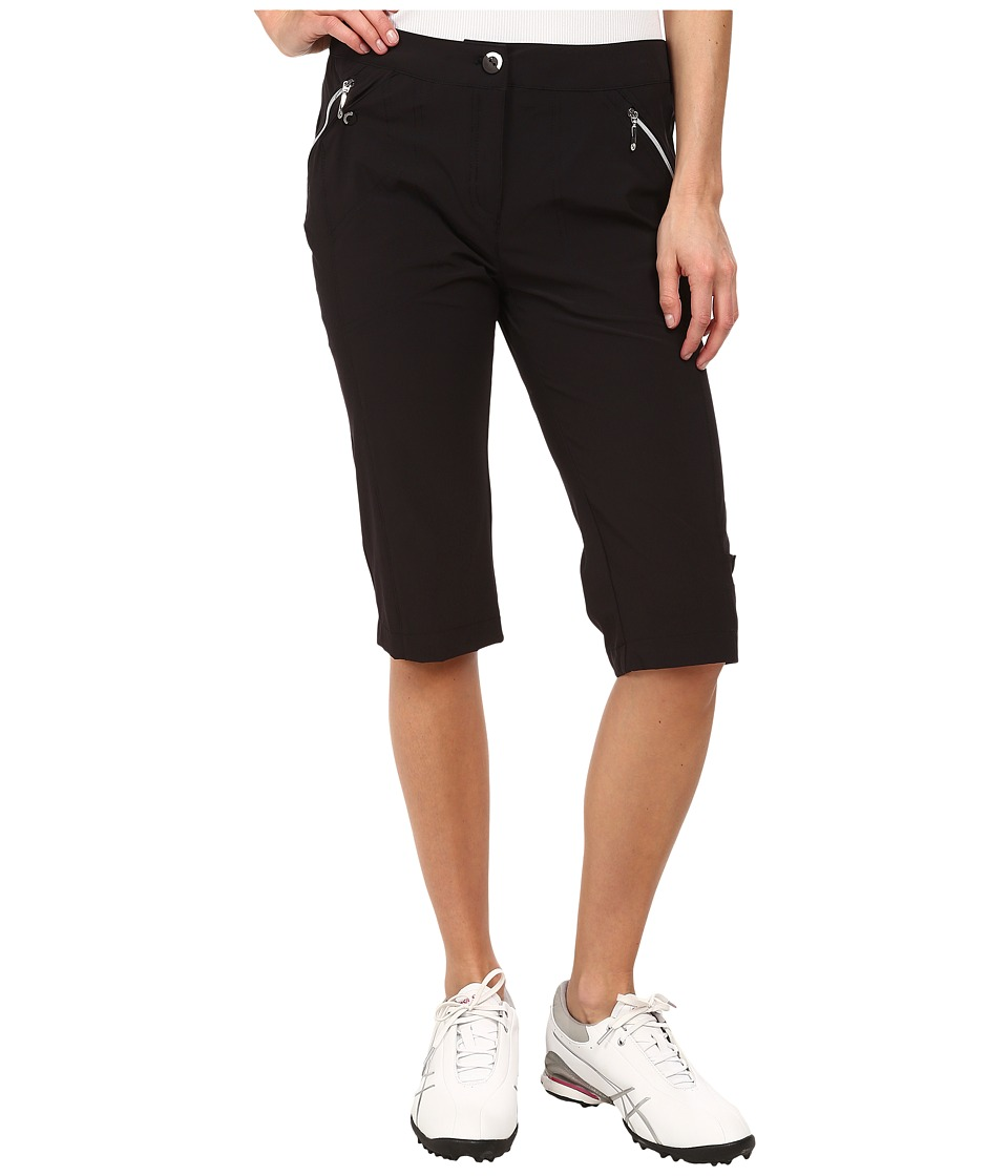 Jamie Sadock Airwear Light Weight 24 in. Knee Capri Jet Black Womens Capri