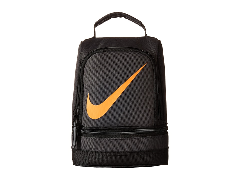 Nike Kids - Lunch Tote (Anthracite/Total Orange) Bags