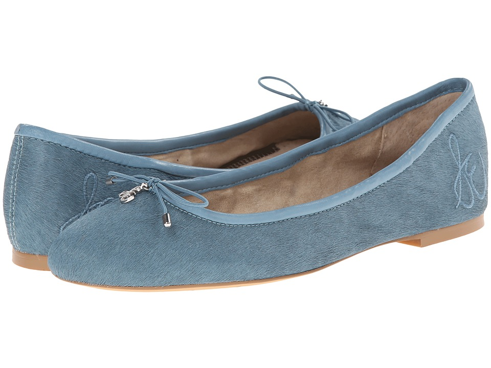 Retro Vintage Flats and Low Heel Shoes Sam Edelman - Felicia New Blue 1 Womens Flat Shoes $119.95 AT vintagedancer.com