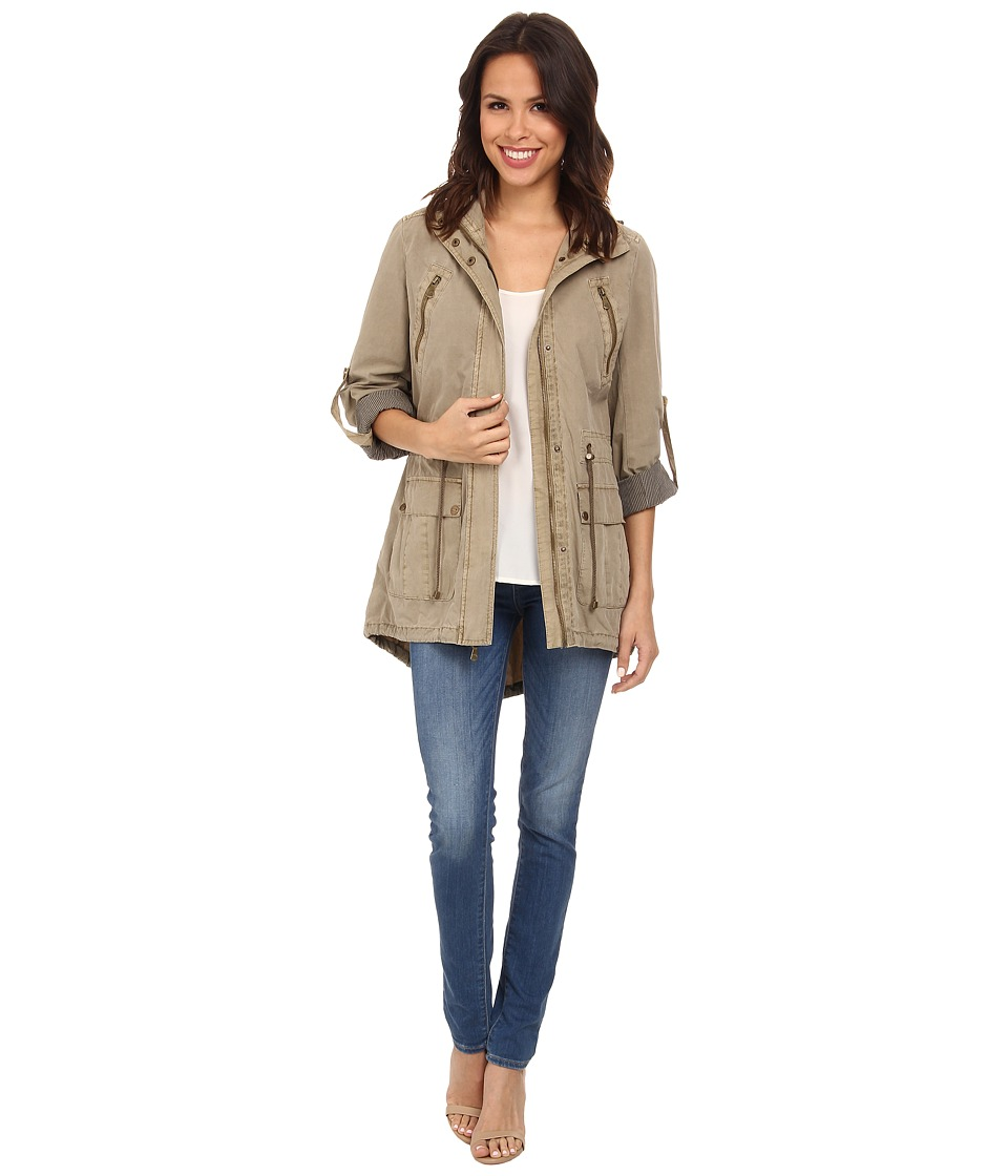 Levis(r) - Fashion Light Weight Parka w/ Roll Up Sleeve (Khaki) Womens Coat