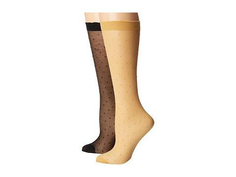 Kate Spade New York Sheer Lurex Anklet 2-Pack