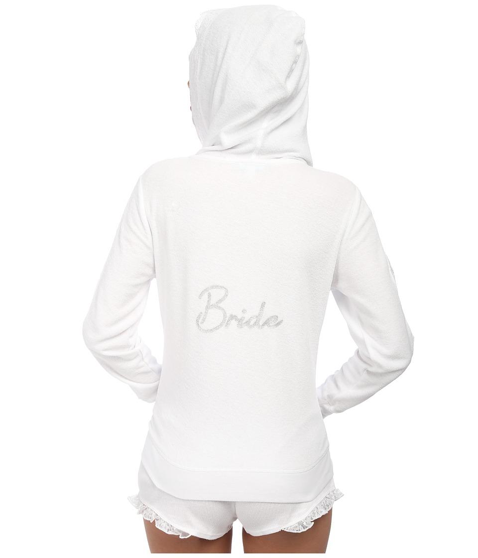 Betsey Johnson Baby Terry Hoodie Sonic White Womens Pajama