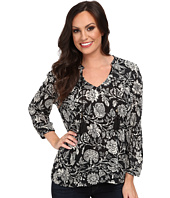 Lucky Brand - Black Floral Top