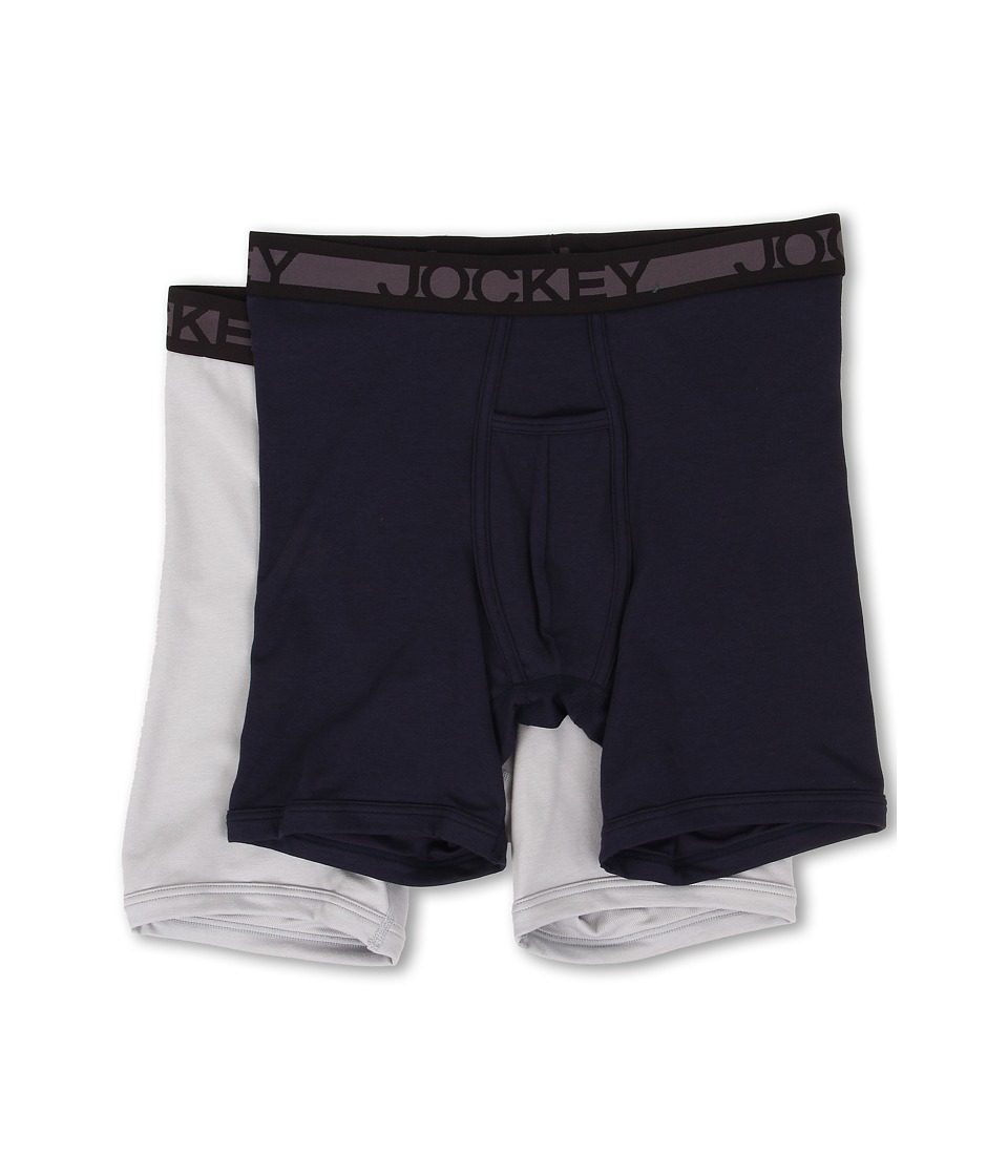 Jockey Cotton Midway Brief True Navy/Soft Grey Mens Underwear