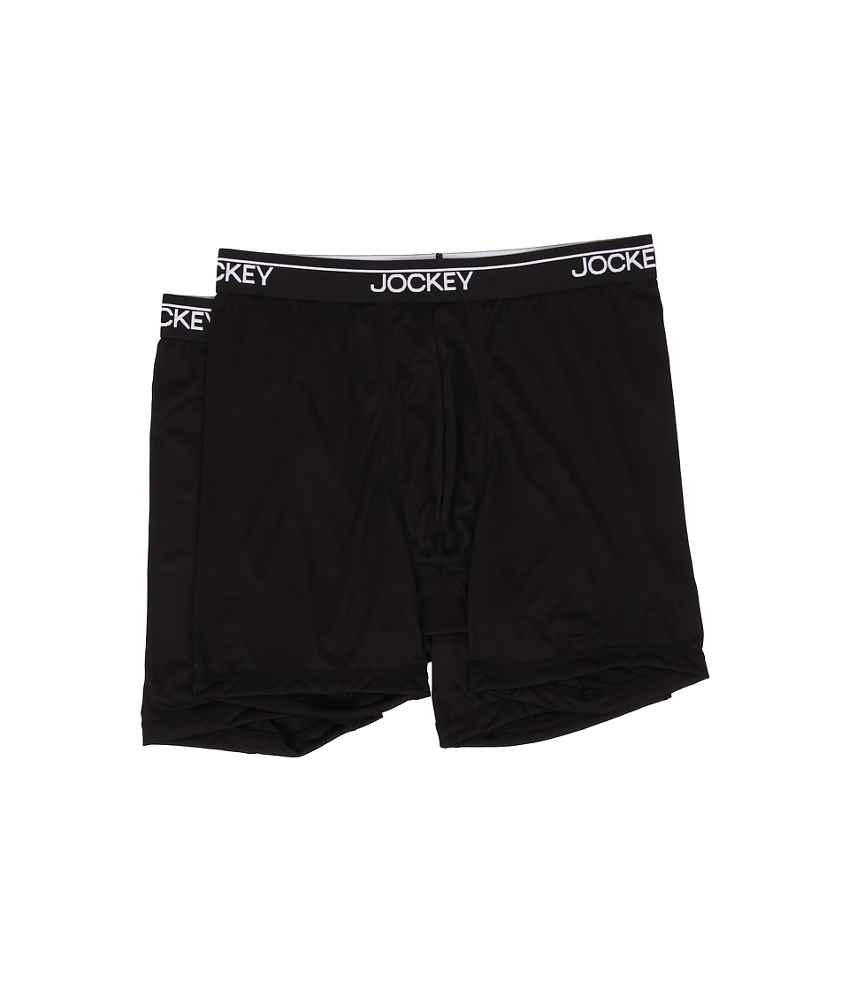 Jockey Boxer Brief Black Mens Underwear