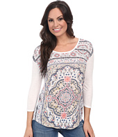 Lucky Brand - Paisley Scarf Tee