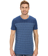 Lucky Brand - Indigo Yarn Dye Stripe Short Sleeve Crew