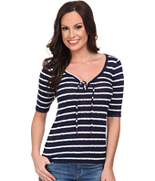 Lucky Brand - Tie Up Stripe Top