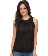 Lucky Brand - Black Eyelet Shell