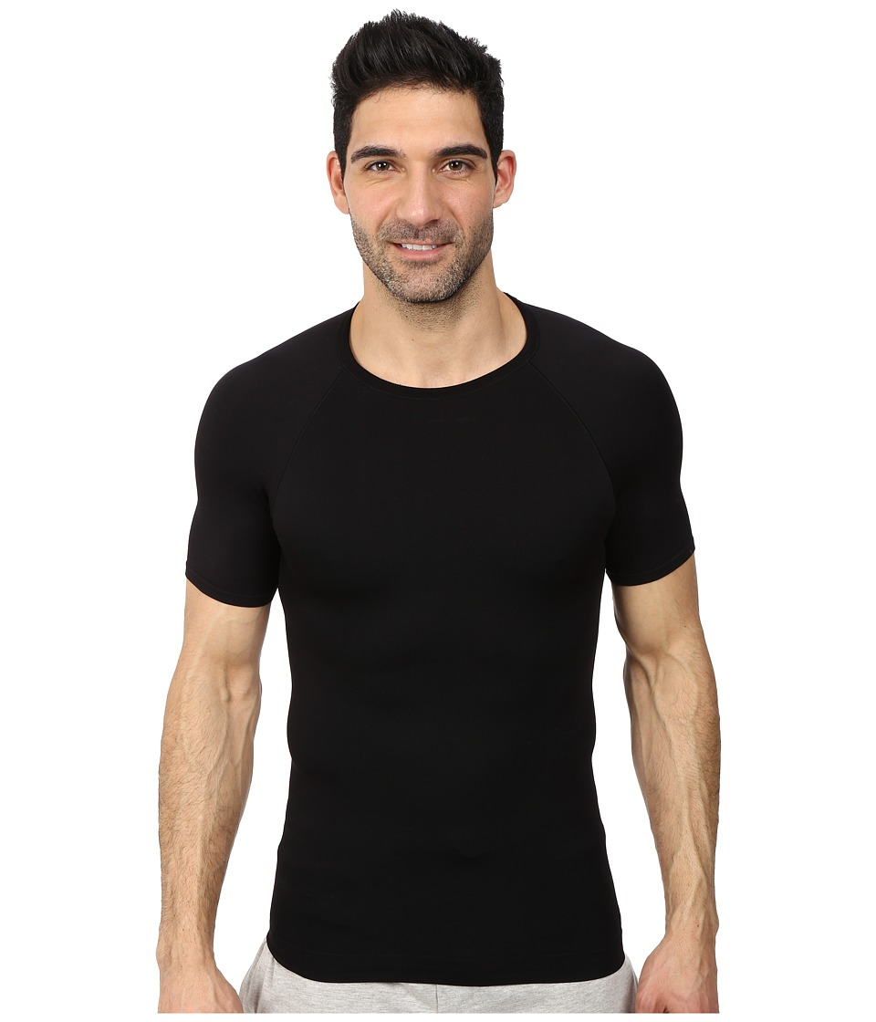 Spanx for Men Zoned Compression Crew Black Mens T Shirt
