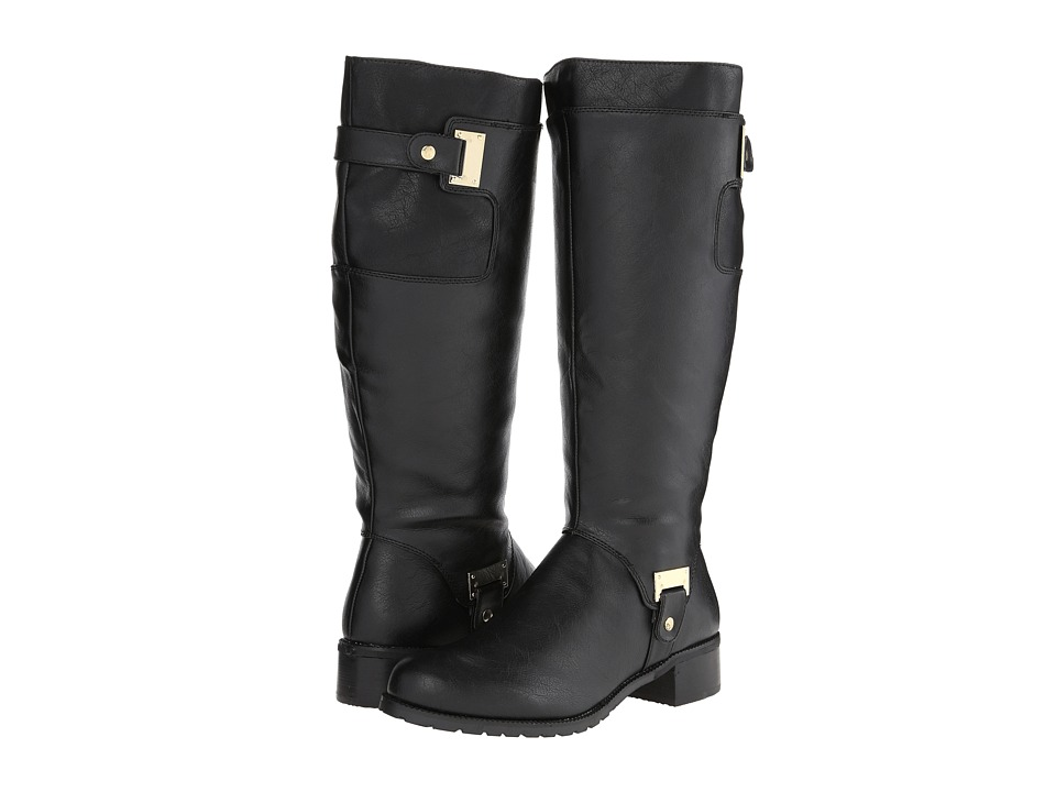 Bella Vita Anya II Plus Calf Black Womens Boots