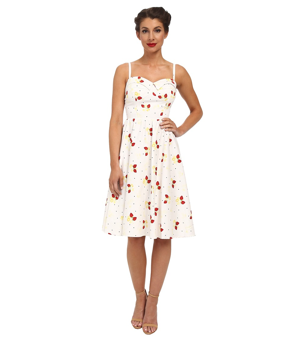 Stop Staring - Strawberry Swing Dress Strawberry Womens Dress $223.00 AT vintagedancer.com