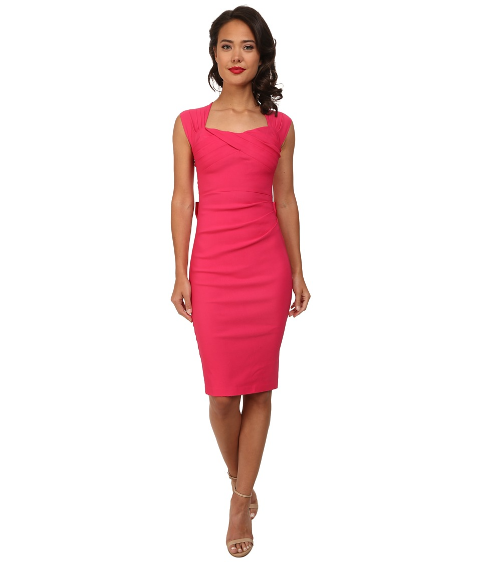 Stop Staring - Love Sweetheart Neckline Dress w Bow Back Detail Hot Pink Womens Dress $198.00 AT vintagedancer.com