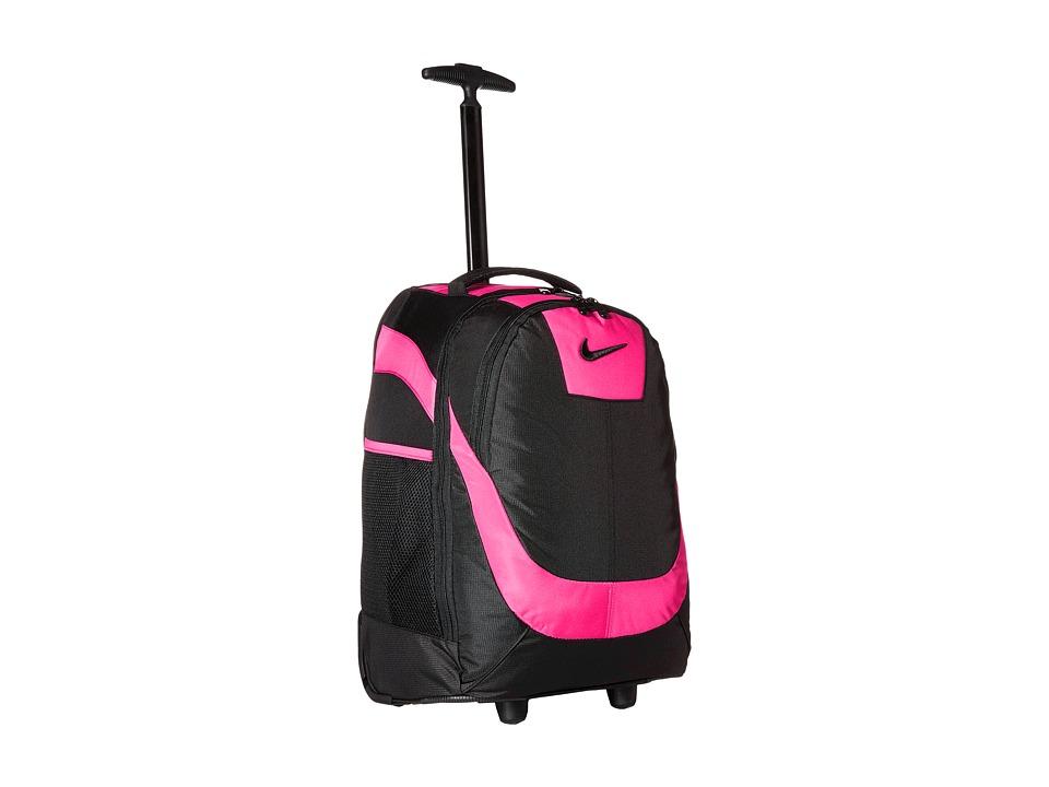 Nike Kids - Rolling Backpack (Black/Vivid Pink) Backpack Bags
