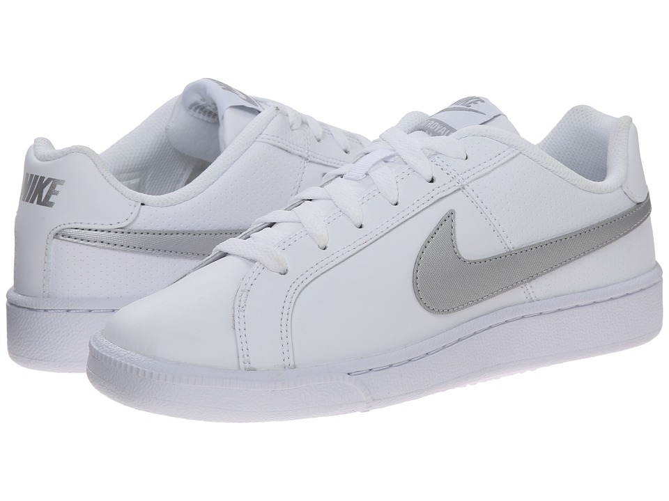 Nike - Court Royale (White/Metallic Silver) Womens Classic Shoes