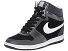 Nike Force Sky High Sneaker Wedge (Black/Metallic Hematite/White/White)