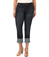 KUT from the Kloth - Plus Size Wide Cuff Straight Leg Jeans in Opulent