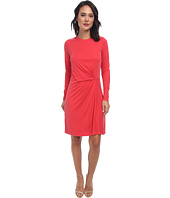 BCBGMAXAZRIA - Roxie Long Sleeve Dress with Front Tuck
