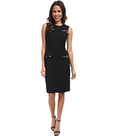 BCBGMAXAZRIA - Kelsie Contrast Folded Peplum Dress