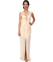 BCBGMAXAZRIA - Brandy Sleeveless V-Neck Gown with Lace