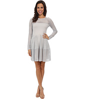 BCBGMAXAZRIA - Kyla A-Line Lace Dress with Long Sleeves