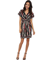 BCBGMAXAZRIA - Kaitlin Wrap Dress with Dolman Sleeves