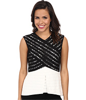 BCBGMAXAZRIA - Vicki Color Blocked Lace Top