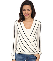 BCBGMAXAZRIA - Laurey Drape Striped Top