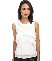 BCBGMAXAZRIA - Lorain Pleat Patched Front Top