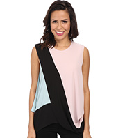 BCBGMAXAZRIA - Jaydin Draped Side Color Blocked Top