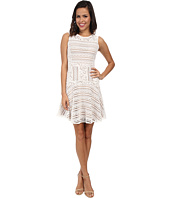 BCBGMAXAZRIA - Jalina Lace Blocked Sleeveless Dress