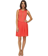 BCBGMAXAZRIA - Faythe Halter Dress with Pleated Skirt