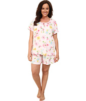LAUREN by Ralph Lauren - Plus Size Garden Party Short Sleeve Boxer PJ Set