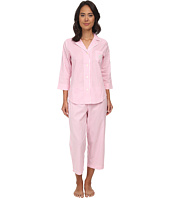 LAUREN by Ralph Lauren - Garden Party 3/4 Sleeve Notch Collar Capri PJ Set