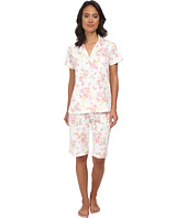 LAUREN by Ralph Lauren - Garden Party Classic Notch Collar Bermuda PJ Set