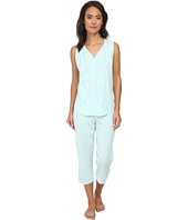 LAUREN Ralph Lauren - Goa Sleeveless Striped Capri PJ Set