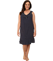 LAUREN Ralph Lauren - Plus Size Essentials Ruffle Short Gown