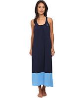 LAUREN by Ralph Lauren - Essentials Long Gown w/ Color Blocking