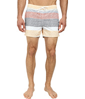 Lacoste - Poplin Printed Stripe Effect Swim Shorts 5