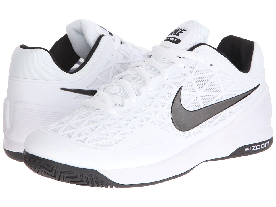 Nike - Zoom Cage 2 (White/Cool Grey/Black) Men