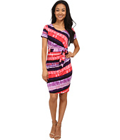 NYDJ - Gabriella Printed Stripe Wrap Dress