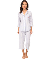 LAUREN by Ralph Lauren - Il Pellicano 3/4 Sleeve Notch Collar Capri PJ Set