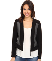 Adrianna Papell - Bonded Mesh Zip-Front Jacket