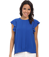Adrianna Papell - Flutter Sleeve Top w/ Front Pleat
