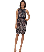 Adrianna Papell - Floral Print Sheath w/ Solid