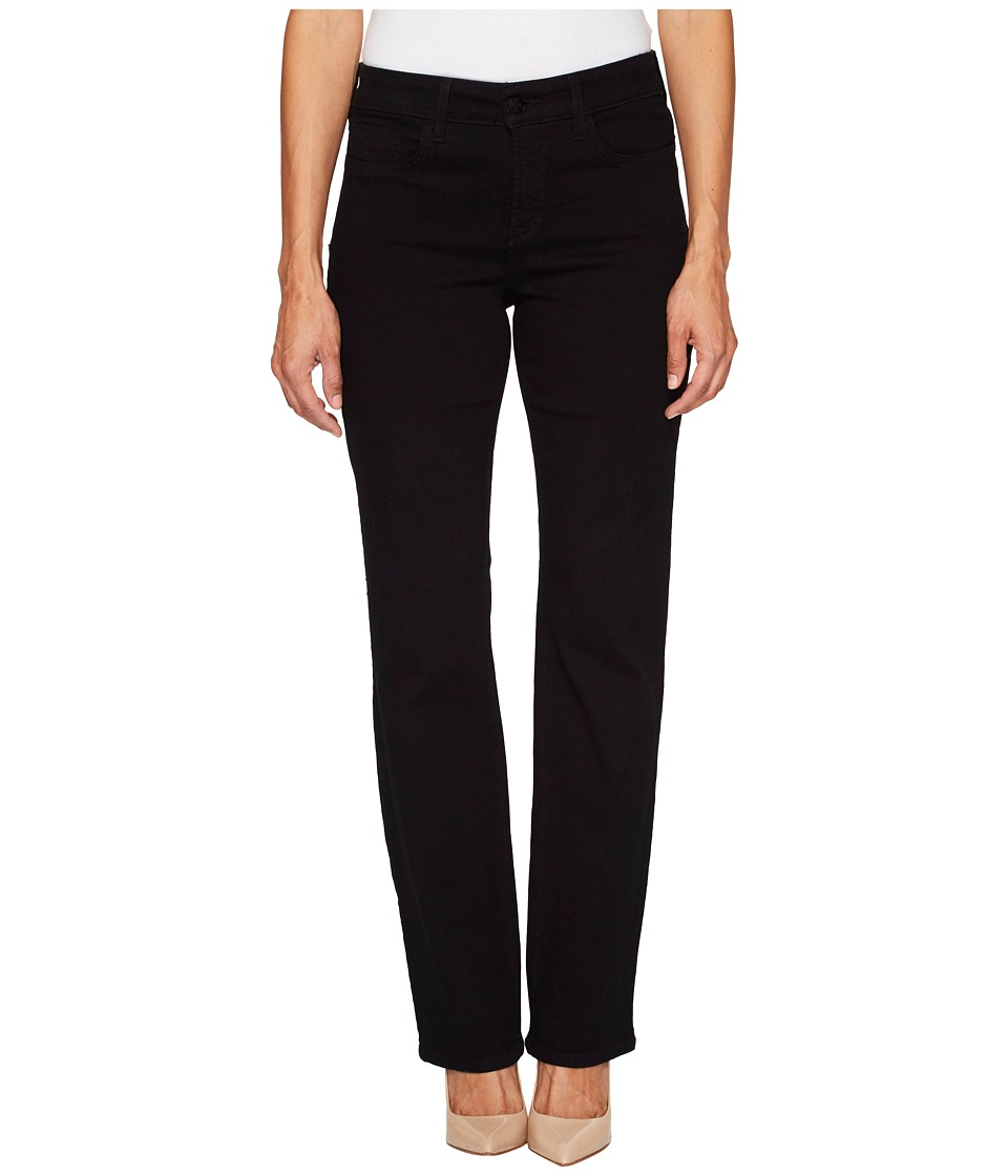NYDJ Petite - Petite Marilyn Straight in Black (Black) Womens Jeans