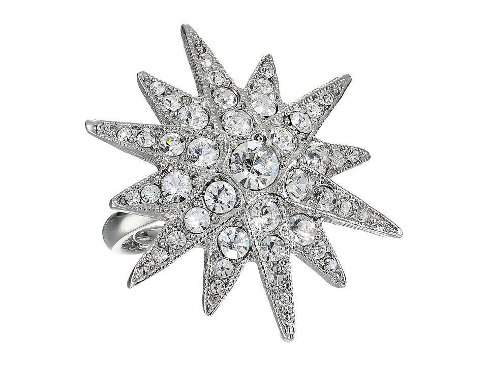 Kenneth Jay Lane - 7353RSC Ring (Rhodium/Rhinestone) Ring