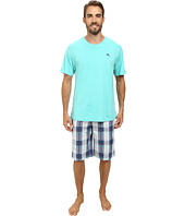Tommy Bahama - Short Sleeve Island Washed Bermuda PJ Set
